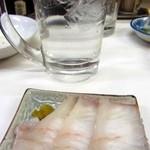 キッチン南海 - ヒラメ刺身@刺身のあるキッチン