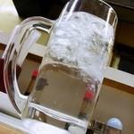 キッチン南海 - 焼酎の水割り@ジョッキです!
