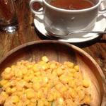 17007946 - コンソメスープとコーンサラダのセット390円