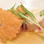 リシュール 苦楽園 - ふわふわの蕪のフランで鰆を包み込んで カラスミを香ばしく