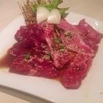 板門亭吉岡 - 料理写真:牛3点盛(1.5人前)¥1,180  牛ロース、赤城和牛カルビ、上タン塩