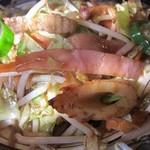 山小屋 - 野菜炒めアップ