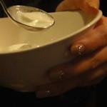洋食katsui - ここから13/01/○・・・まぁ~さんもニッコリ^^ジェラート・・・エリさ~~~ん・美味しいよ❤・・・オ―――チャン・うふふ。