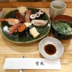 きなり寿し - 上にぎり(1575円)