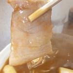 立そば処 十勝 - カレー南蛮そば 390円の豚肉 【 2013年1月 】