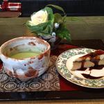 17025225 - 抹茶とケーキのセット