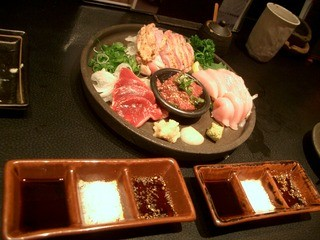 KIKAN-TARO 蛍池店 - <2012年12月>お刺身盛り合わせ。新鮮で美味しいです。\(^o^)/