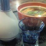 17026857 - 「鴨ぬき」と「日本酒」