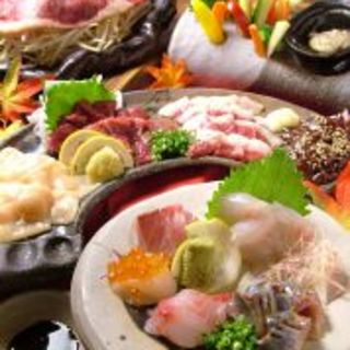 馬刺し付き本格料理コースがなんと3500円!飲放2h付き!