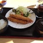 道の駅おおさと 大郷ふるさとプラザ - 海老フライ定食 950円
