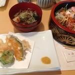 みやた - 海鮮丼のセットは1350円
