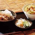しのぶ庭 - 料理写真:【ランチ】人気の選べるランチセット、福井名物のおろし蕎麦やソースかつ丼も!