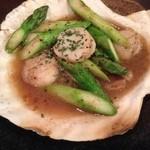 Matthininomori - ホタテとアスパラのバター焼き