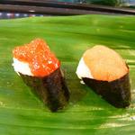 鮨金 - 筋子とタラコ