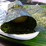 鮨金 - ホタテの磯辺焼き