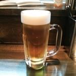 スペインバル ピー - 生ビール♪(480円)
