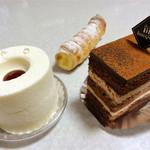 CAKE AND SWEETS bougiee - レアチーズ380円、ショコラ380円、パイコルネ210円