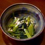 旬鮮酒場 Dank - お通し¥380 2013.1.26