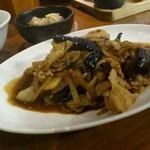 17038862 - 豚とナスの味噌炒め定食
