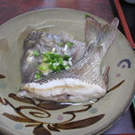 海の幸 - フエフキタイの塩煮(梅定食)