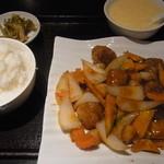 中華料理 翠珍 - 黒酢すぶたセット
