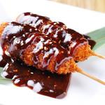 炭焼家金鳥 - 料理写真:『みそ串カツ』は、愛知の味を贅沢にも一度で味わえま