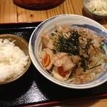 ひさし鍋焼ラーメン - サラダらうめんセット