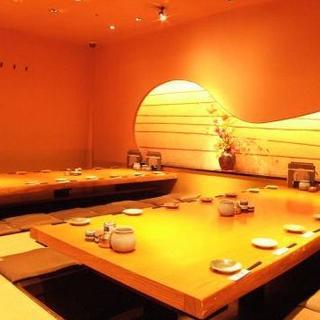 【個室】8名様まで、16名様までの上質な空間の完全個室