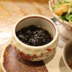 志ま平 - 前菜 (海苔の佃煮)