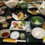 志な乃屋 - 料理写真:4000円コースのお料理です。旬の食材たっぷり!