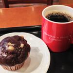 シアトルズ ベストコーヒー - チョコマカデミアマフィン+ドリップコーヒーS=510円