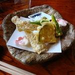 松籟庵 - 湯葉の天ぷら