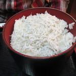 とさ市場 - 須崎定食のしらす丼