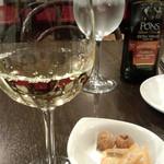 わいん家 - 3)セットのワインとプチデザート