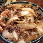 17053356 - カルビ丼(玉ねぎと牛肉)¥830(H25.1.29撮影)