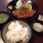 とき和 - ロースカツ定食¥1,000