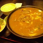 17056680 - カレーうどん定食+生たまご 900円+50円