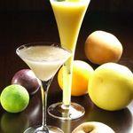 K's Bar - フレッシュフルーツカクテル:まるで果実をそのまま食べているような素材を生かした本格カクテル☆スコッチやバーボン、ワインなど拘りの洋酒も!