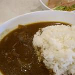 喫茶まるゆ - カレーライス/サラダ・味噌汁付き
