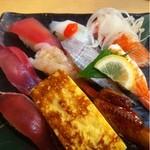 さんきゅう水産 - サービスセット(にぎり寿司10貫)