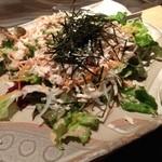 いっかくじゅう - いっかくじゅう 烏丸店の飲み放題宴会料理3980円のサラダ(12.12)