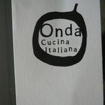 オンダ クッチーナ イタリアーナ - ショップカード 表