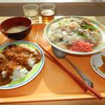 北海道工業大学 HITプラザ食堂 - アラカルト420円大盛り50円+ミニカレー100円