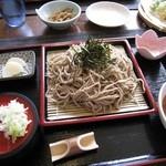 蕎麦CAFE 福 - ざる蕎麦大盛り800円