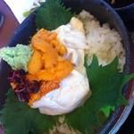 ふく万 - 生湯葉ウニ丼