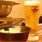 もつ鍋 山本屋 - ビールと一緒にクイッといきましょう!