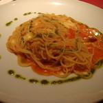 17083061 - フレッシュトマトとモッツァレラチーズのパスタ
