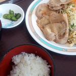 北彩都 - 北彩都 生姜焼定食 500円