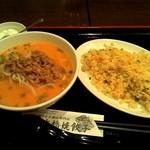 日本橋焼餃子 - またもや担々麺とチャーハンのハーフセット