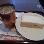 上島珈琲店 - たまご&チーズコールスローサンドハーフセット\400